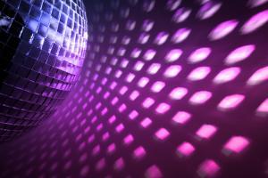 Purple Disco Lights Backdrop by nikkytok