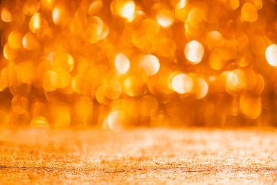 Shiny Christmas Bokeh Background with Floor