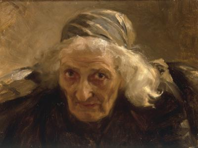 Head of an Old Woman, Study for a Larger Painting