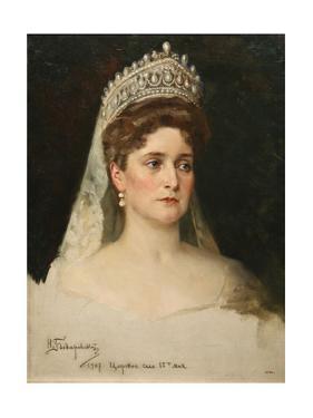 Portrait of the Empress Alexandra Feodorovna, 1907 by Nikolai Bodarevsky