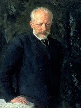 Portrait of Piotr Ilyich Tchaikovsky (1840-93), Russian Composer, 1893 by Nikolai Dmitrievich Kuznetsov