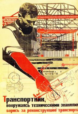 Soviet Political Agitation Art, 1931 by Nikolai Dolgorukov