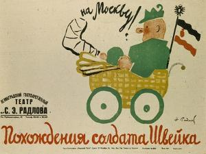 Poster for the Play the Good Soldier, 1929 by Nikolai Ernestovich Radlov