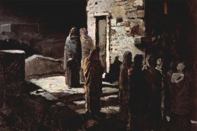 Christ Enters Garden of Gethsemene