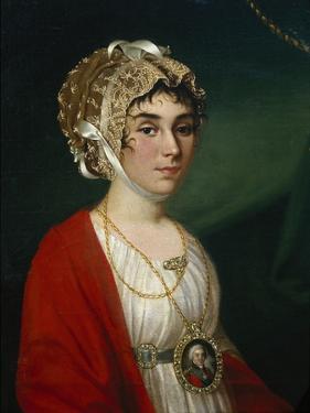 Portrait of the Actress and Singer, Countess Praskovya Sheremetyeva (Zhemchugov) (1768-180), 1802 by Nikolai Ivanovich Argunov