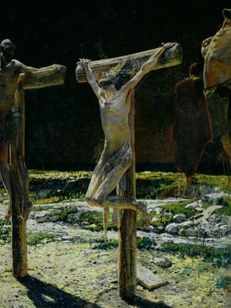 The Crucifixion, or Golgotha, 1893 by Nikolai Nikolaevich. Ge