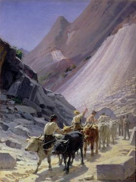 Transporting Marble at Carrara, 1868 by Nikolai Nikolaevich Ge