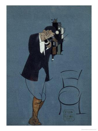 Self-Portrait at the Telephone, 1920