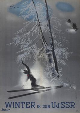 Winter in the USSR (Poster of the Intourist Compan), 1935 by Nikolai Nikolayevich Zhukov