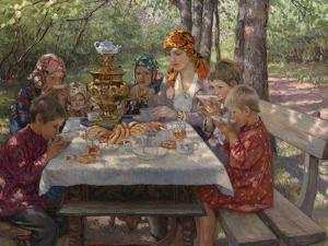 The Teacher's Guests by Nikolai Petrovich Bogdanov-Belsky