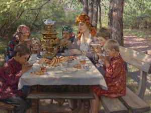 The Teacher's Guests by Nikolai Petrovich Bogdanov-Belsky