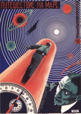 Poster for the Film Travel to Mars, 1926 by Nikolaj Prusakov