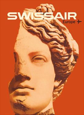 Europe - Swissair - Ancient Greek Bust by Nikolaus Schwabe