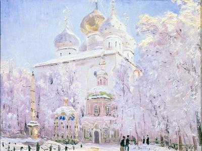 Winter in the Trinity Sergius Lavra in Sergiev Posad, C1910