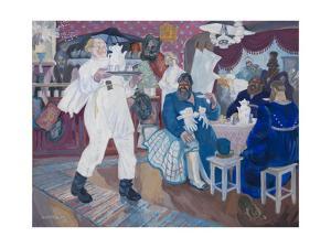 Russian Tavern, 1921 by Nikolay Vladimirovich Remizov