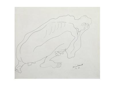 Study of Roger Fry, 1918 by Nina Hamnett