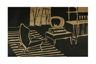 Sketch for the Interior Design of a One-Room Soviet Apartment, c.1960 by Nina Ivanovna Shirokova