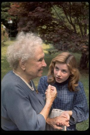"""Activist for the Disabled, Helen Keller, Meeting Actress Patty Duke in """"The Miracle Worker"""""""