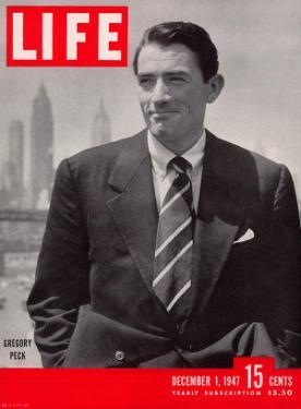 Actor Gregory Peck, December 1, 1947 by Nina Leen