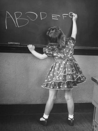 Little Girl Learning Her Abc's