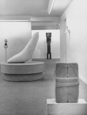 Sculptures by Brancusi on Exhibit at the Guggenheim Museum by Nina Leen