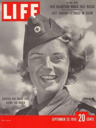 Swedish Red Cross Worker Ingrid Jarnald, September 25, 1950