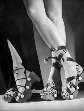 Women Wearing Unrationed Shoe Soles During the War by Nina Leen