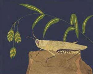 Ornamental Grasshopper II by Nina Tenser