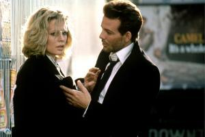 NINE 1/2 WEEKS, 1986 directed by ADRIAN LYNE Kim Basinger and Mickey Rourke (photo)
