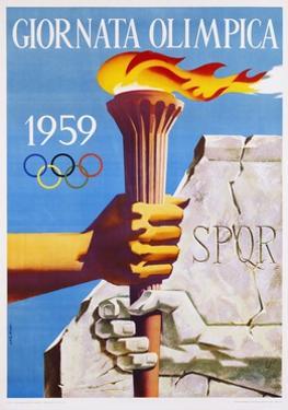 Giornata Olimpica 1959 Poster by Nino Gregori