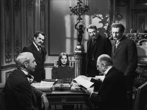 NINOTCHKA, 1939 directed by ERNST LUBITSCH Alexander Granach, Greta Garbo, Felix Blessart and Sig R