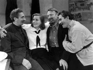 NINOTCHKA, 1939 directed by ERNST LUBITSCH Sig Rumann, Greta Garbo, Felix Blessart and Alexander Gr