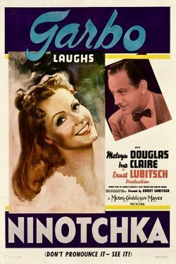 NINOTCHKA, from left: Greta Garbo, Melvyn Douglas, 1939.
