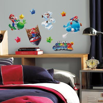 Nintendo   Mario Galaxy 2 Peel U0026 Stick Wall Decals