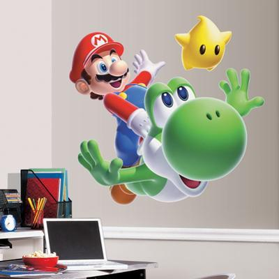 Nintendo - Mario Yoshi Peel & Stick Giant Wall Decal
