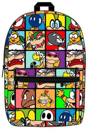 Nintendo Super Mario - Villains Sublimated Backpack