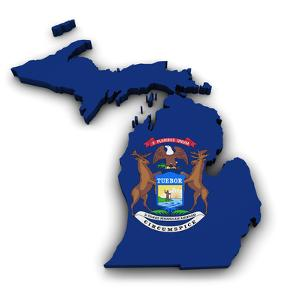 Michigan Map Flag Shape by NiroDesign