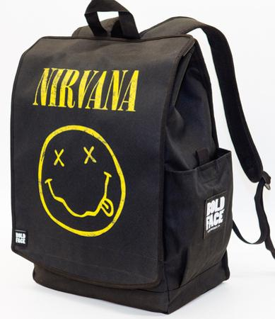Nirvana Yellow Smiley Face Backpack
