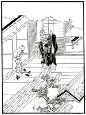 Sesshiu and the Pictured Rats, 18th Century by Nishikawa Sukenobu