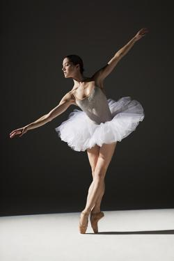 Classical Ballerina on Point by Nisian Hughes