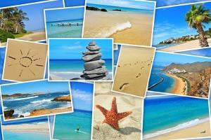 A Collage Of Some Pictures Of Different Beaches Of Spain by nito