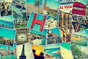 Mosaic With Pictures Of Different Places And Landmarks by nito