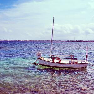 Picture of a Fishing Boat in Estany Des Peix Lagoon, in Formentera, Balearic Islands, Spain by nito