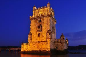 The Belem Tower at Night in Lisbon, Portugal by nito