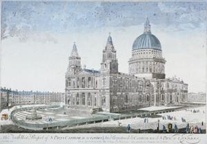 St Paul's Cathedral, City of London, 1755 by NJB de Poilly