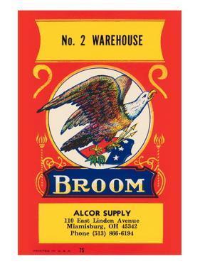 No. 2 Warehouse Eagle Broom Label