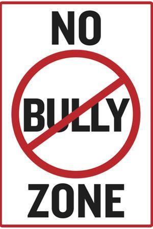 No Bully Zone Classroom Plastic Sign
