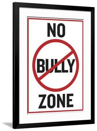 No Bully Zone Classroom--Framed Art Print