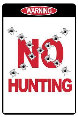 No Hunting Plastic Sign