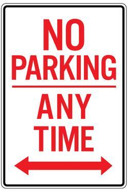 No Parking Any Time Double Arrow